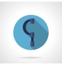 Micrometer gauge round flat icon vector image