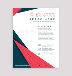 Minimal business flyer design leaflet cover page vector