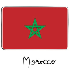Morocco flag doodle vector image