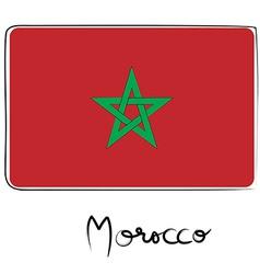 Morocco flag doodle vector