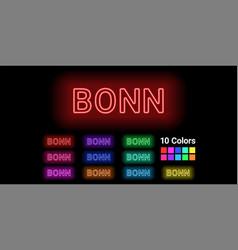 neon name of bonn city vector image