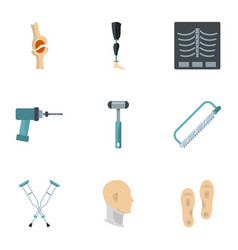Orthopedic icon set flat style vector
