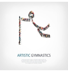 people sports gymnastics vector image