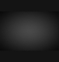 Perforated black metallic background metal vector