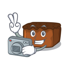 Photographer brownies mascot cartoon style vector