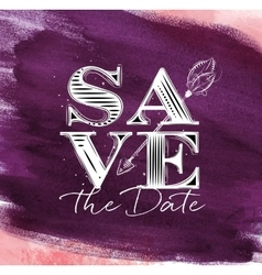 Poster wedding save date violet vector image
