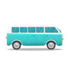 retro bus concept for vintage vector image
