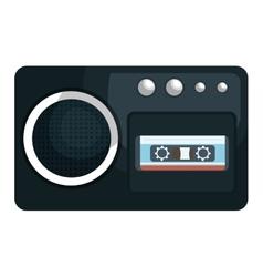 Retro radio isolated flat icon vector image