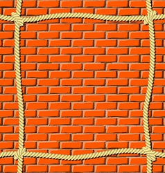Ropes on the wall vector image