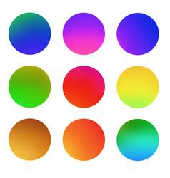 round gradient set vector image