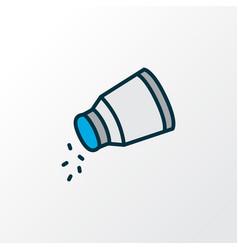 Salt icon colored line symbol premium quality vector