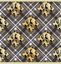 scottish tartan grunge seamless pattern leopard vector image