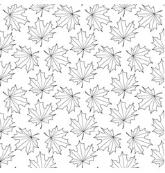 seamless background of the contours of a maple vector image