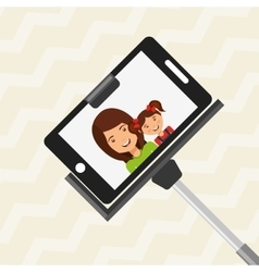 Selfie with monopod design vector