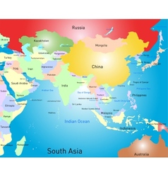 south asia map vector image