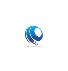 sphere round technology logo vector image