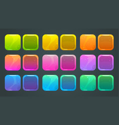 square frames and buttons for game ore app store vector image