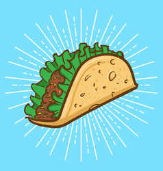 taco cartoon vector image