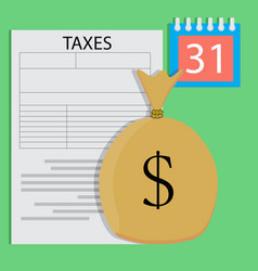 tax day vector image