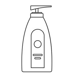Uv dispenser cream icon outline style vector