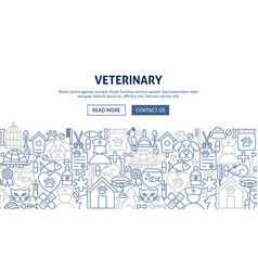 Veterinary banner design vector