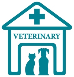 veterinary icon with home and pets vector image