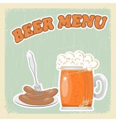 Vintage Beer Menu vector image