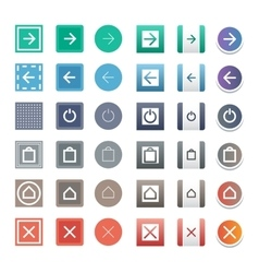 Web buttons icons vector image