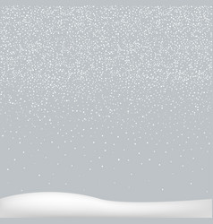White snow background vector
