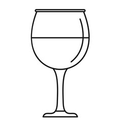 wine glass icon outline style vector image
