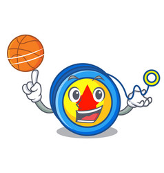 with basketball yoyo character cartoon style vector image