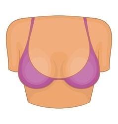 Woman breast icon cartoon style vector