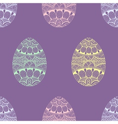 Zentangle stylized Easter pastel Eggs seamless vector
