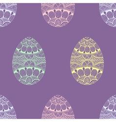 Zentangle stylized Easter pastel Eggs seamless vector image