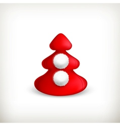 Christmas tree red vector image vector image