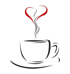 Coffee cup of love vector image