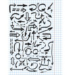 hand drawn arowws vector image
