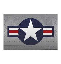 military aircraft roundel insignia distressed vector image vector image