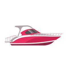 speedboad yacht or sea cruise sailboat flat vector image vector image