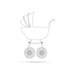 baby stroller ancient beauty black vector image