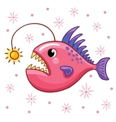 Cartoon angler fish vector image vector image