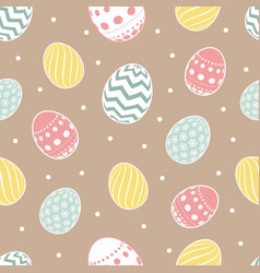 easter seamless pattern flowers eggs vector image vector image