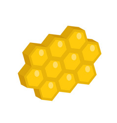 honeycomb icon flat style isolated on white vector image