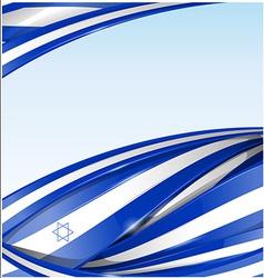 israel flag background vector image vector image