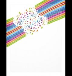 rainbow business sheet design vector image