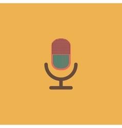 retro microphone icon vector image vector image