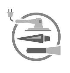tools needed for painting door vector image vector image
