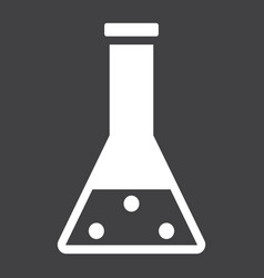 Chemistry solid icon laboratory and test tube vector