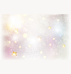 christmas stars and snowflake background vector image