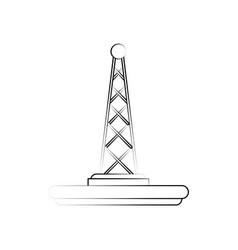 communication radio antenna vector image